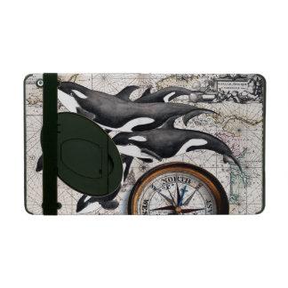 Orca Nautical Compass iPad Cover