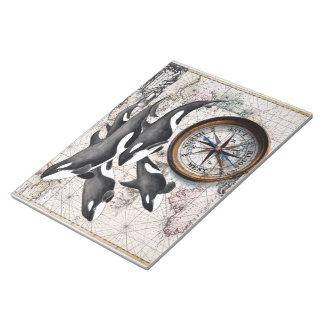Orca Nautical Compass Notepad