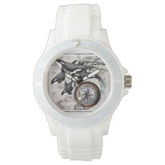 Orca Nautical Compass Wristwatch