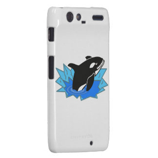 Orca/orca del dibujo animado que salta del agua droid RAZR fundas