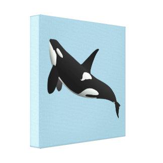 Orca, orca del Orcinus Lienzo Envuelto Para Galerias