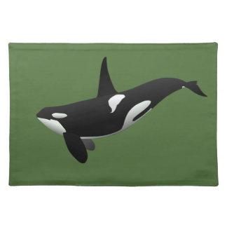 Orca, orca del Orcinus Manteles Individuales