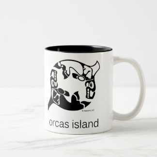 Orca - Orcas Island - Tao Yin Yang - Killer Whale Two-Tone Coffee Mug
