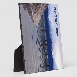Orca oscura del agua placa para mostrar