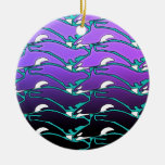 Orca Otter Design Ornaments