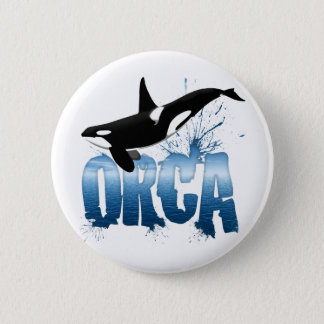 ORCA PINBACK BUTTON