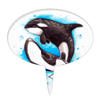 orca play cake topper