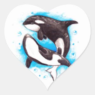 orca play heart sticker