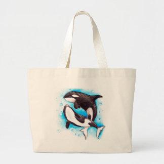 orca play large tote bag