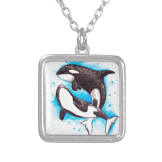 orca play silver plated necklace