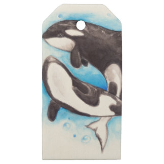 orca play wooden gift tags