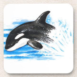 Orca Playing Drink Coaster