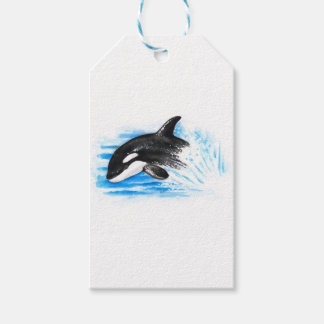 Orca Playing Gift Tags