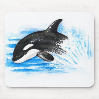 Orca Playing Mouse Pad