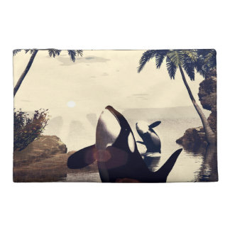 Orca playing travel accessories bags