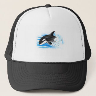 Orca Playing Trucker Hat