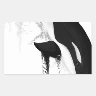 Orca por Crem Pegatina Rectangular
