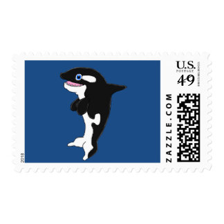 Orca Postage Stamp