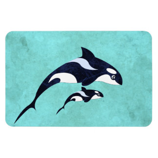 Orca Rectangle Magnet