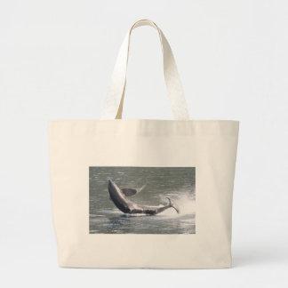 Orca que viola en Alaska Bolsa Tela Grande