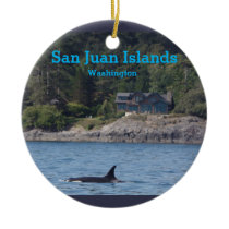 Orca San Juan Islands Washington State Ornament