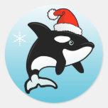 Orca Santa Classic Round Sticker