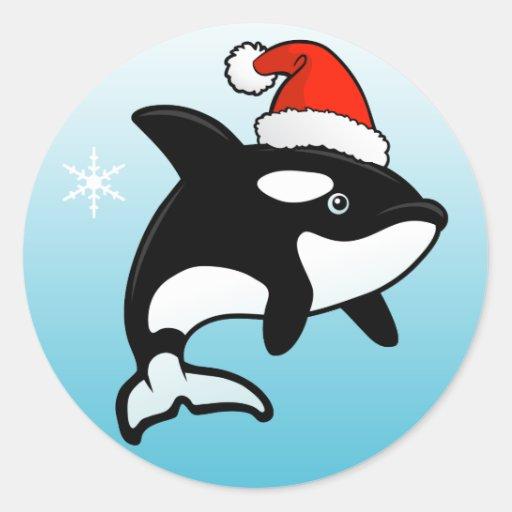 Orca Santa Pegatina Redonda
