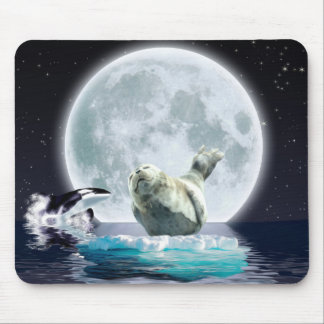 Orca, Seal & Wild Moon Gift Designs Mouse Pad
