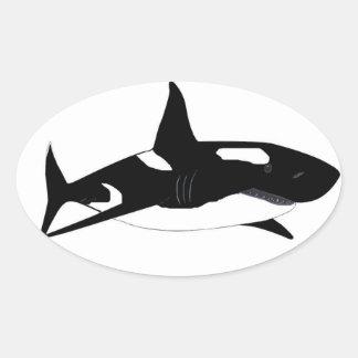 Orca Shark - Shorca Oval Sticker