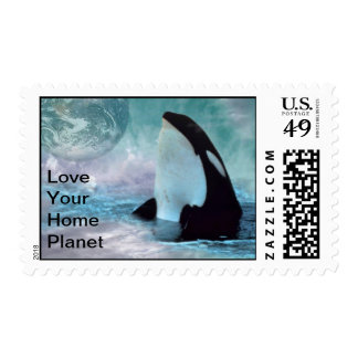 Orca-sky collage stamp