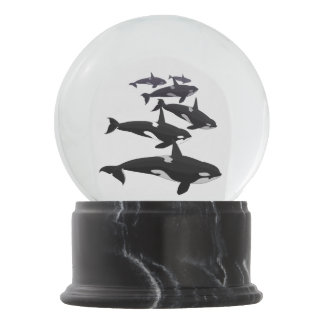 Orca Snow Globe Custom Killer Whale Snow Globe
