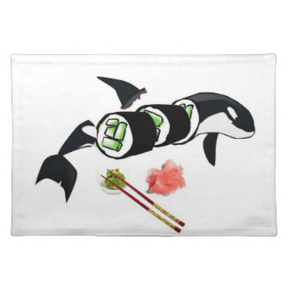 Orca Sushi Cloth Placemat