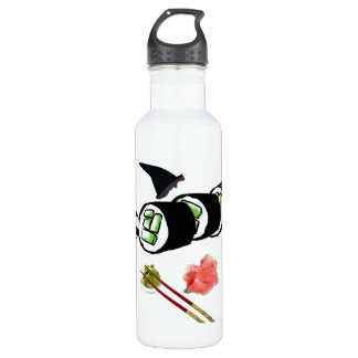 Orca sushi! stainless steel water bottle