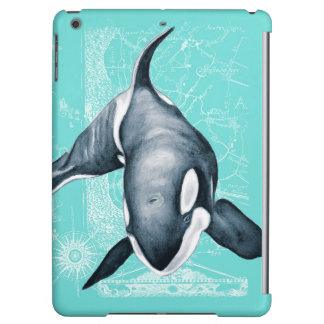 Orca Teal White Cover For iPad Air