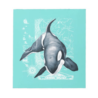 Orca Teal White Notepad