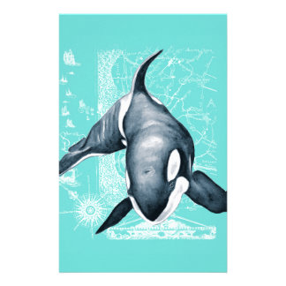 Orca Teal White Stationery