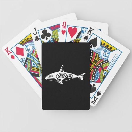 Orca tribal baraja de cartas
