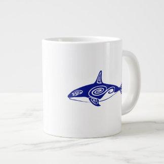 Orca tribal taza de café gigante