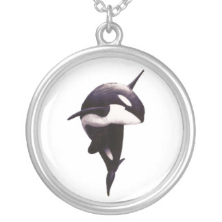 Orca Twist Silver Plated Necklace