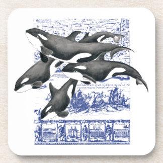 Orca Vintage Map II Coaster