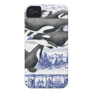Orca Vintage Map II iPhone 4 Cases