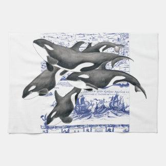 Orca Vintage Map II Kitchen Towel