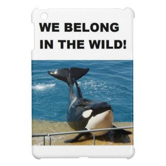 Orca we belong in the wild design iPad mini cover