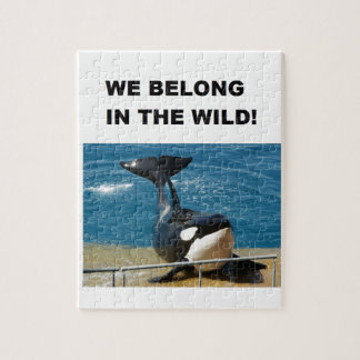 Orca we belong in the wild design jigsaw puzzle