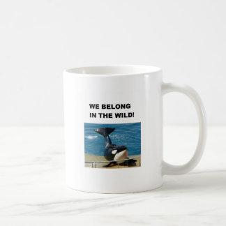 Orca we belong in the wild design classic white coffee mug