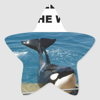 Orca we belong in the wild design star sticker