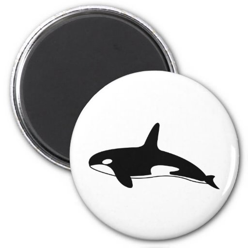 Orca Whale 2 Inch Round Magnet