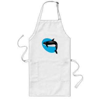 orca whale long apron