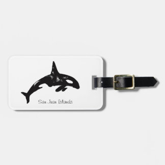 Orca Whale Bag Tag