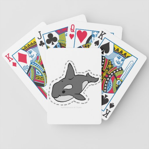 ORCA_WHALE BICYCLE POKER CARDS